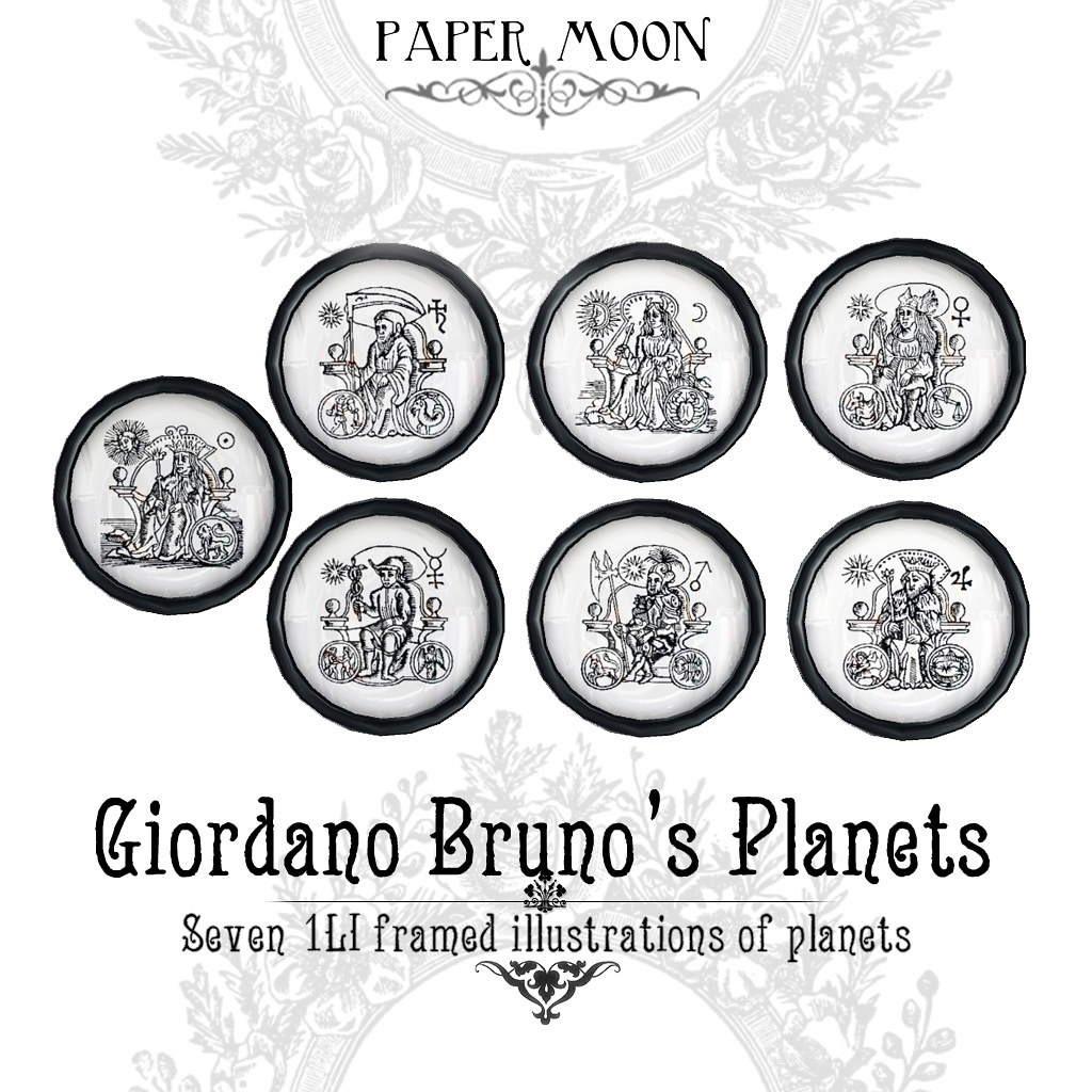 *pm* Giordano Brunos Planets poster - SecondLifeHub.com
