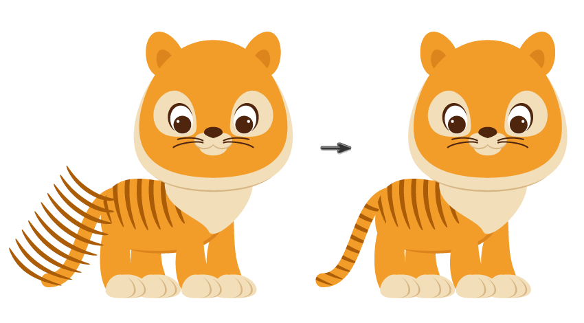 Cách vẽ một con hổ hoạt hình trong Adobe Illustration