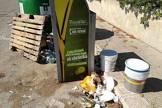 Noicattaro. Abbandono rifiuti zona Borghi front