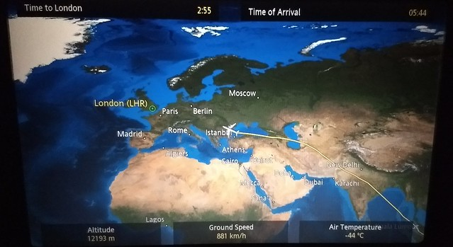 Tracking the flight to London