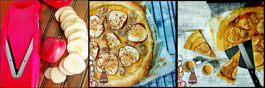 colagem tarte de maçãs