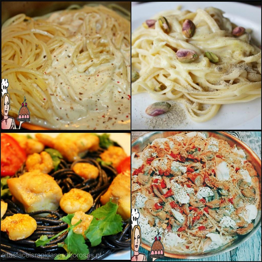 4 receitas de esparguete