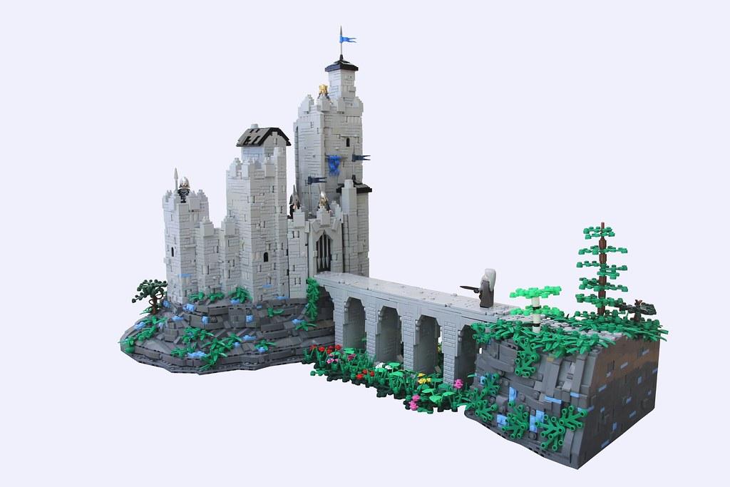 MELO Round 6: Dol Guldur (Main) (custom built Lego model)