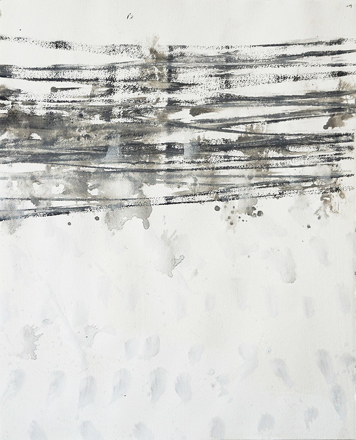 Impressions 10 (2017) Ink and pigment on Arches paper, charcoal 684x570mm