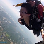 View of the coast skydiving on long island