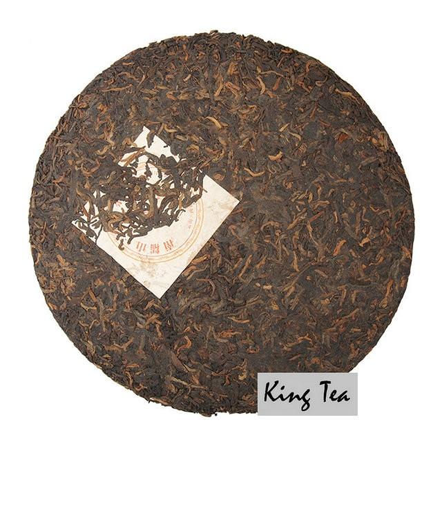 Free Shipping 2006 LaoManEr NanNuoShan Royal Cake 357g China YunNan MengHai Chinese Puer Puerh Ripe Tea Cooked Shou Cha Premium