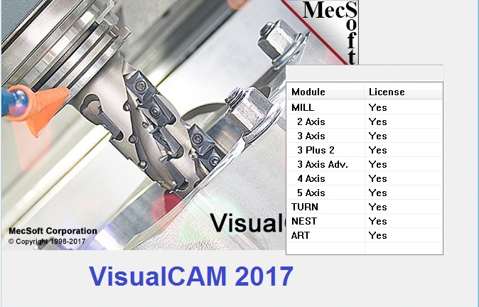 download MecSoft VisualCADCAM 2017 Build 6.0.419 x86 x64 full crack