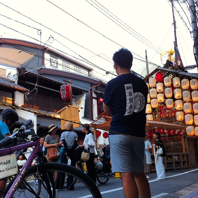 【 THURSDAY  EVENING PATROL 】 後祭、南観音山の立ち具合をパトロール… #祇園祭 #後祭 #南観音山 #vigore #kyoto #goodeveningkyoto #patrol