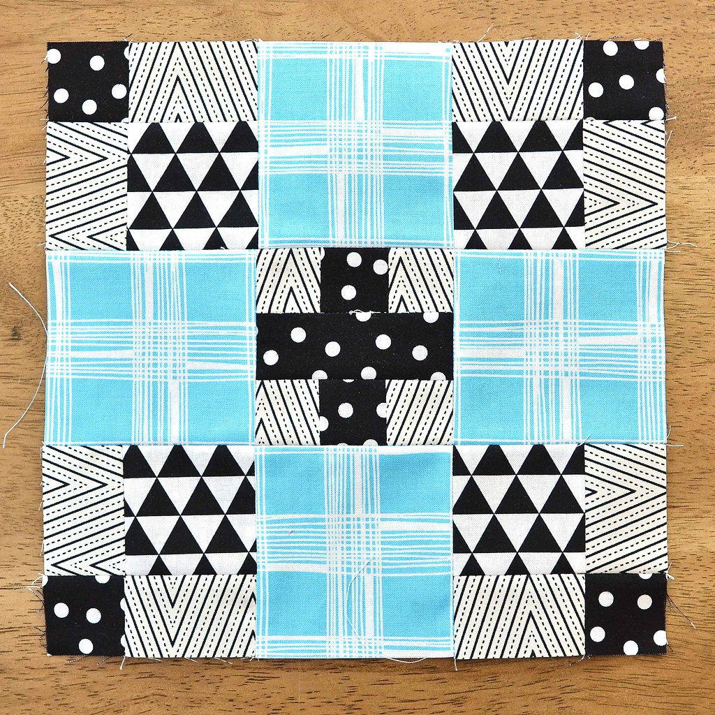 The Fussy Cut Sampler Block # 35