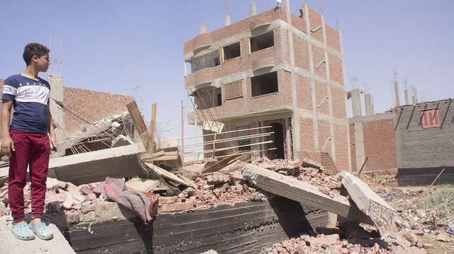 One of the demolished buildings