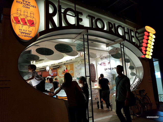 Rice to Riches storefront
