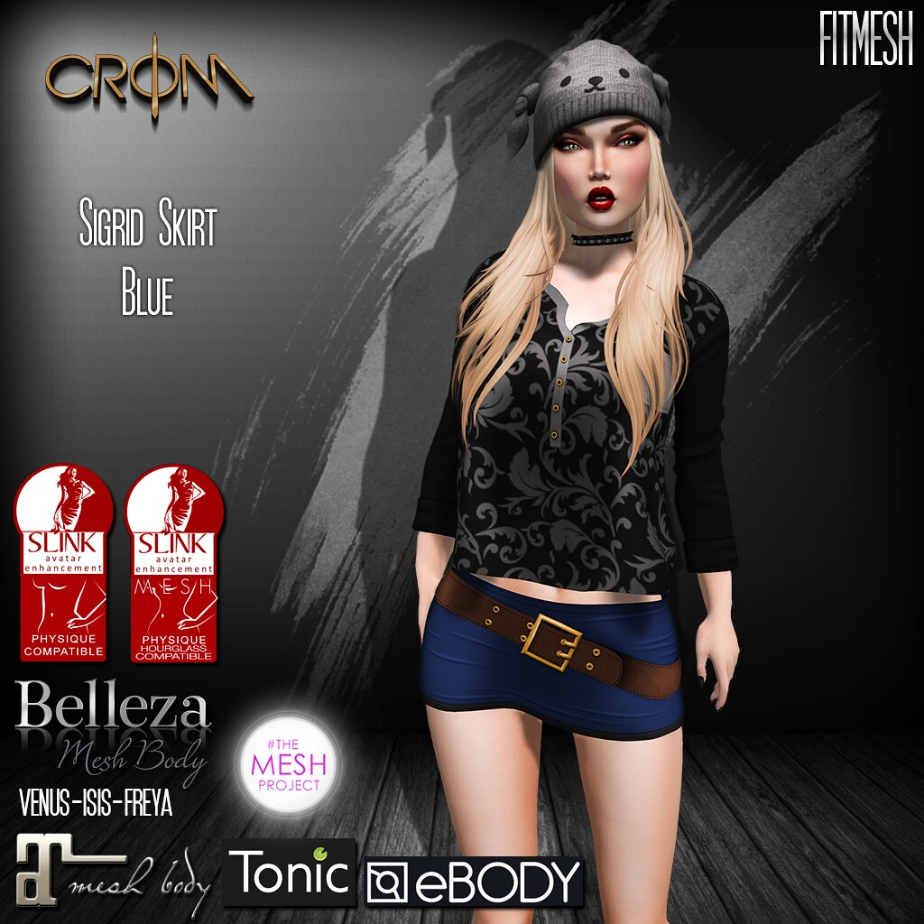 -CroM- Sigrid Blue SKIRT= 25 L NEW!!! - SecondLifeHub.com
