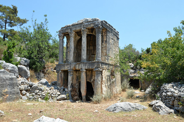 Upper temple-tomb, a two storied tomb with Ionic and Corinthian columns, Imbriogon, Cilicia