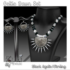 50% Steals & Deals Limited time - Celtic Dawn Black Agate/Sterling MESH