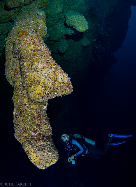 Stalactite in the Great Blue Hole