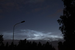 Noctilucent clouds over Porvoo, Finland