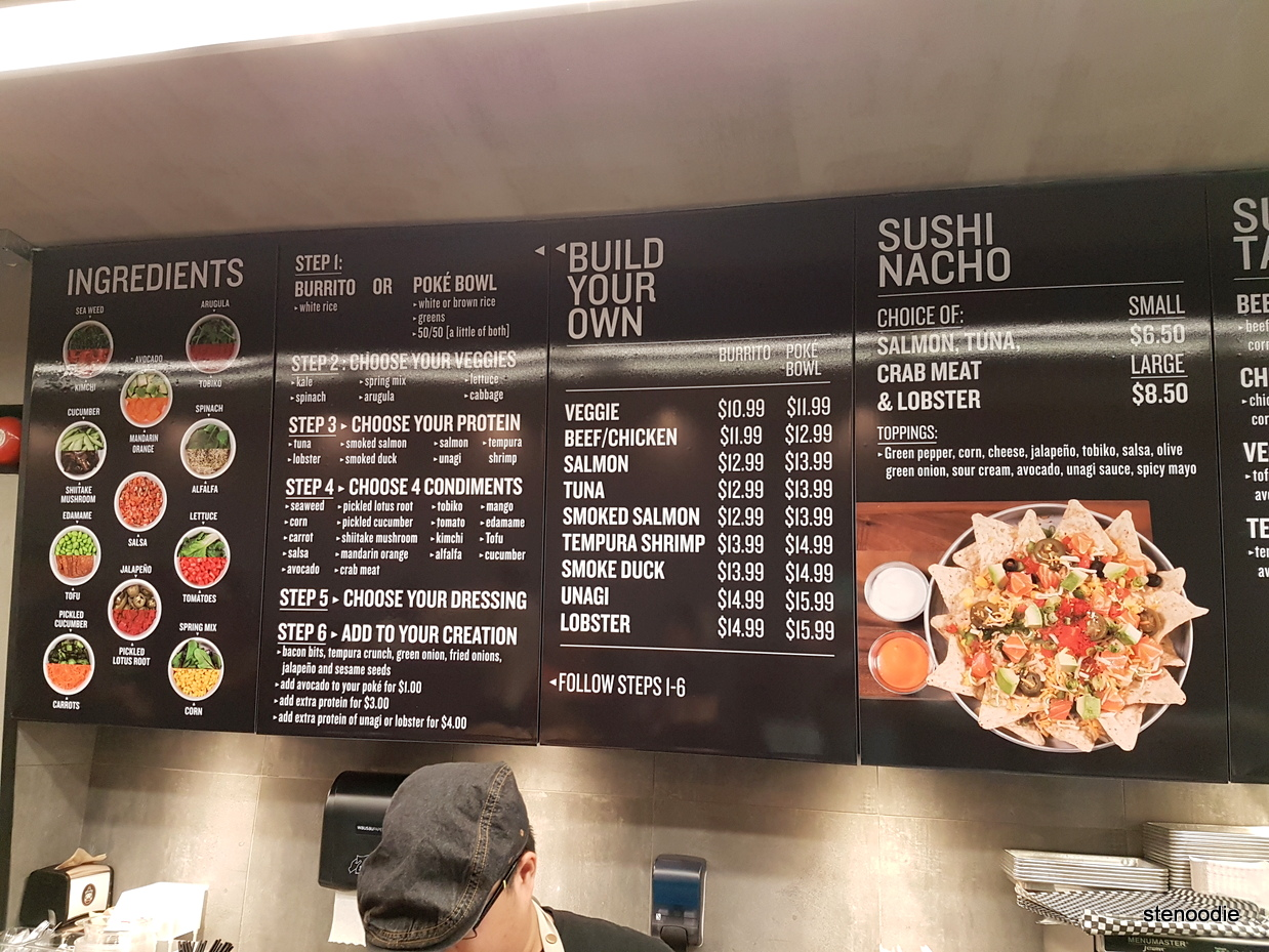 Mi'hito Sushi Laboratory menu and prices