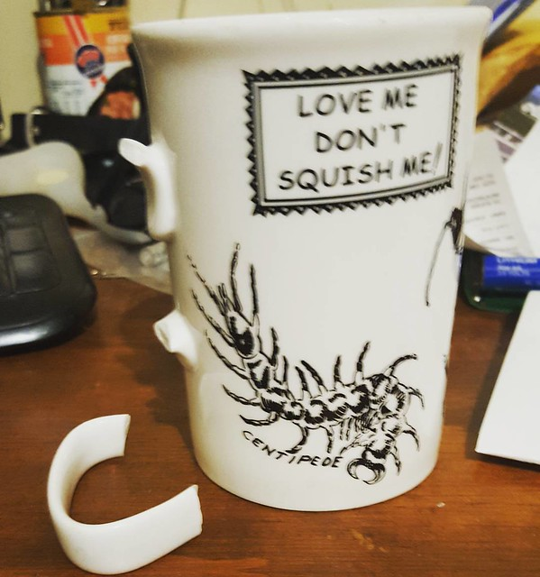 Boohoo. Favourite coffee mug vs bench top.