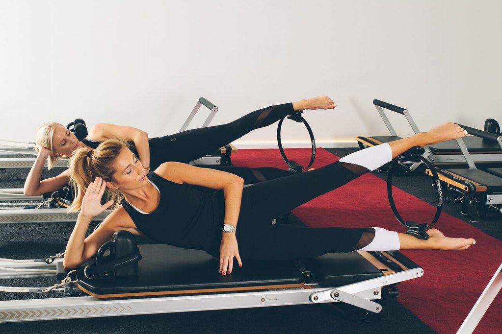 Reformer Pilates Photography - Fit Circle Exercise
