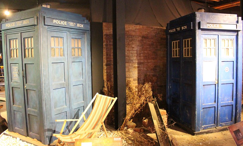 Police boxes, Doctor Who Experience, Cardiff Bay