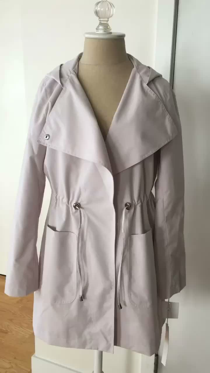 Caslon Swing Back Coat in nude, size XSP