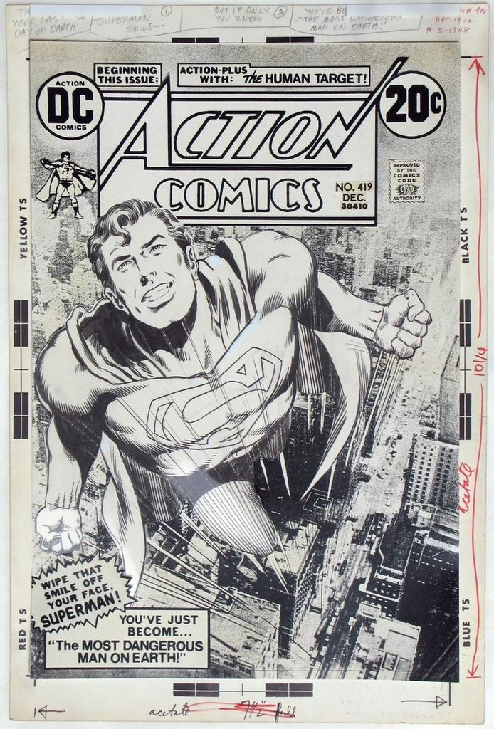 Action Comics 419 original art