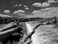 Aqueduct in Black & White . Outdoors Cloud - Sky Sky Great Falls National Park Landscape Washington, D. C. Water at Great Falls Park