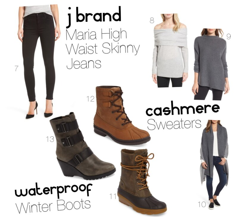 10 Items That Are Actually Worth Buying from the Nordstrom Anniversary + a $500 Giveaway J Brand Maria High Waist Skinny Jeans Cashmere Sweaters Waterproof Winter Boots