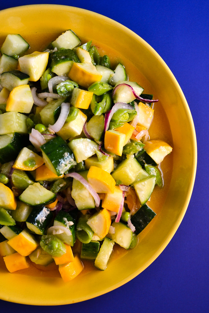 Summer Squash, Cucumbers, and Snap Peas with Miso Dressing | Things I Made Today