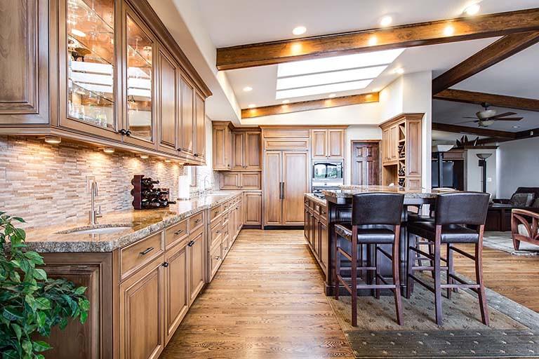 實木裝潢廚房