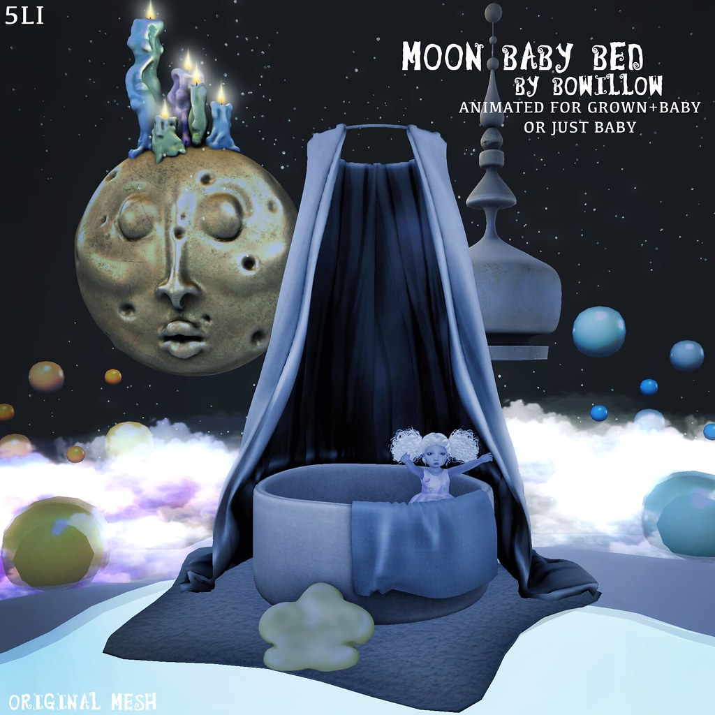 Moon Baby Bed Ad - SecondLifeHub.com