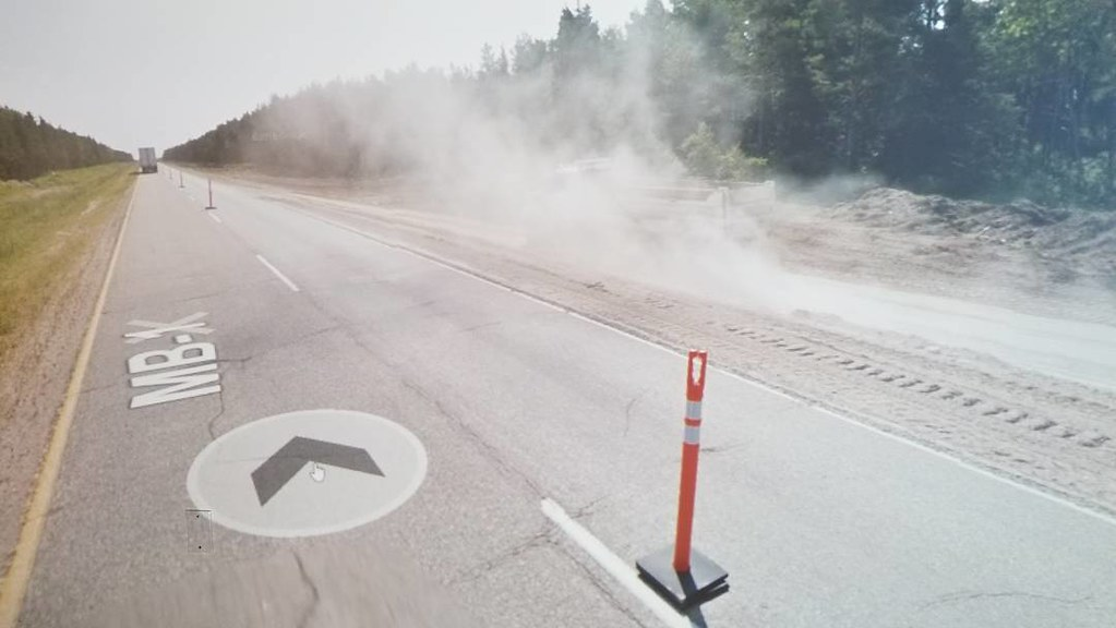 Dust reminds me that there is motion in this flat space. #ridingthroughwalls #xcanadabike #googlestreetview #manitoba