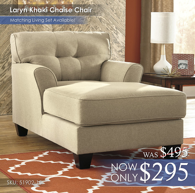 Laryn Khaki Chaise 51902-15