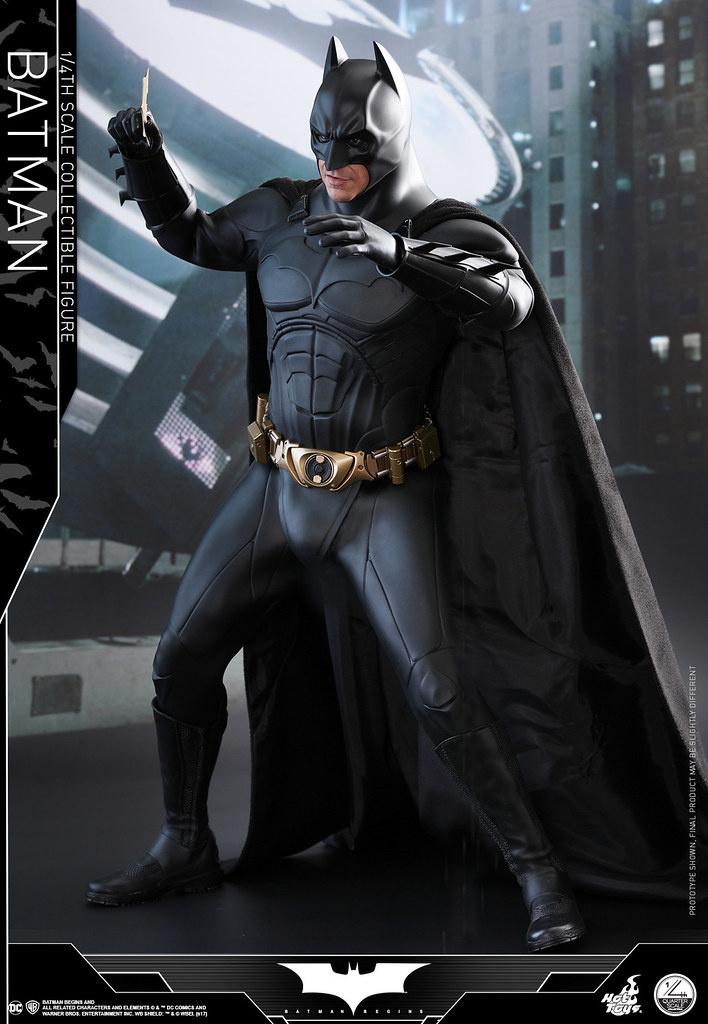 Hot Toys - QS009 - 蝙蝠俠:開戰時刻【蝙蝠俠】Batman Begins Batman 1/4 比例人偶作品