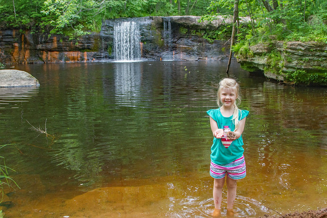 McKenna at Wolf Creek falls