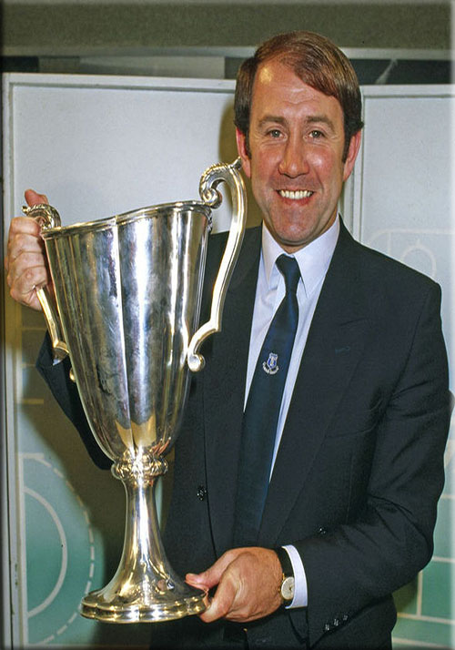 Howard Kendall with the European Cup Winners Cup 1985