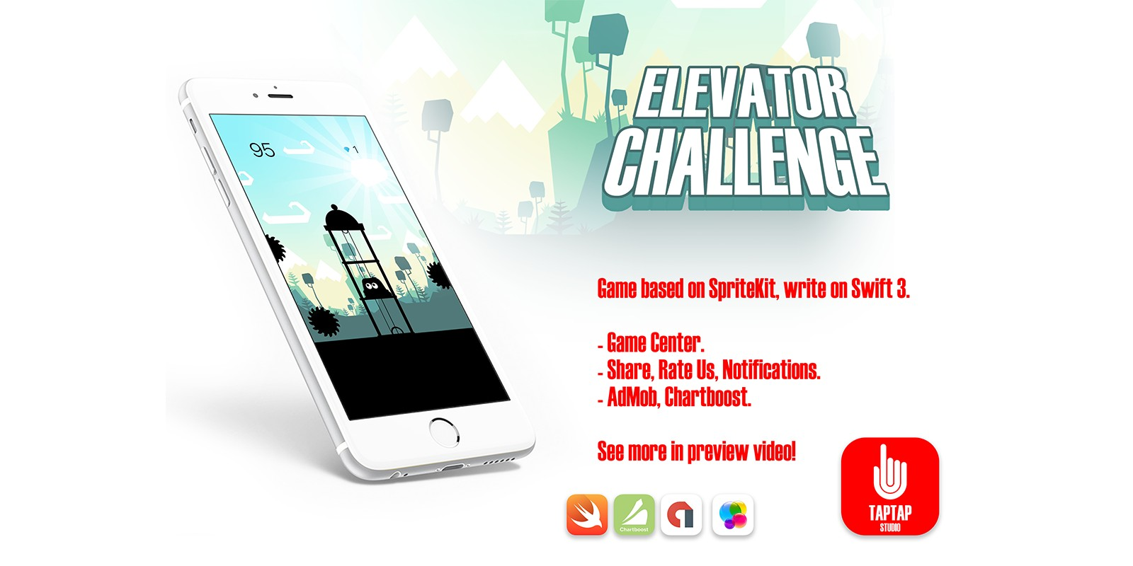 Elevator Challenge v1.0 – iOS Xcode Game Source Code