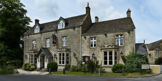 The Royal George Hotel in the village of Birdlip near Gloucester