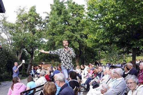 Marcus Fyrberg ovan publiken