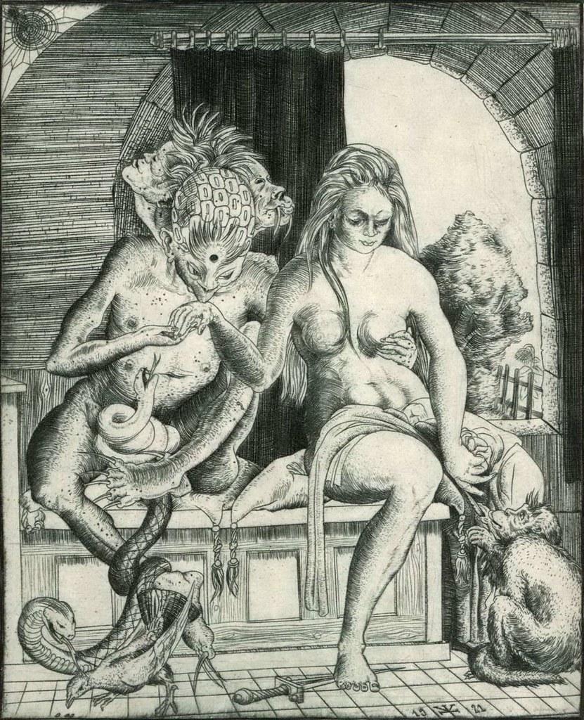 Erich Glas - Woman and Devil, 1921