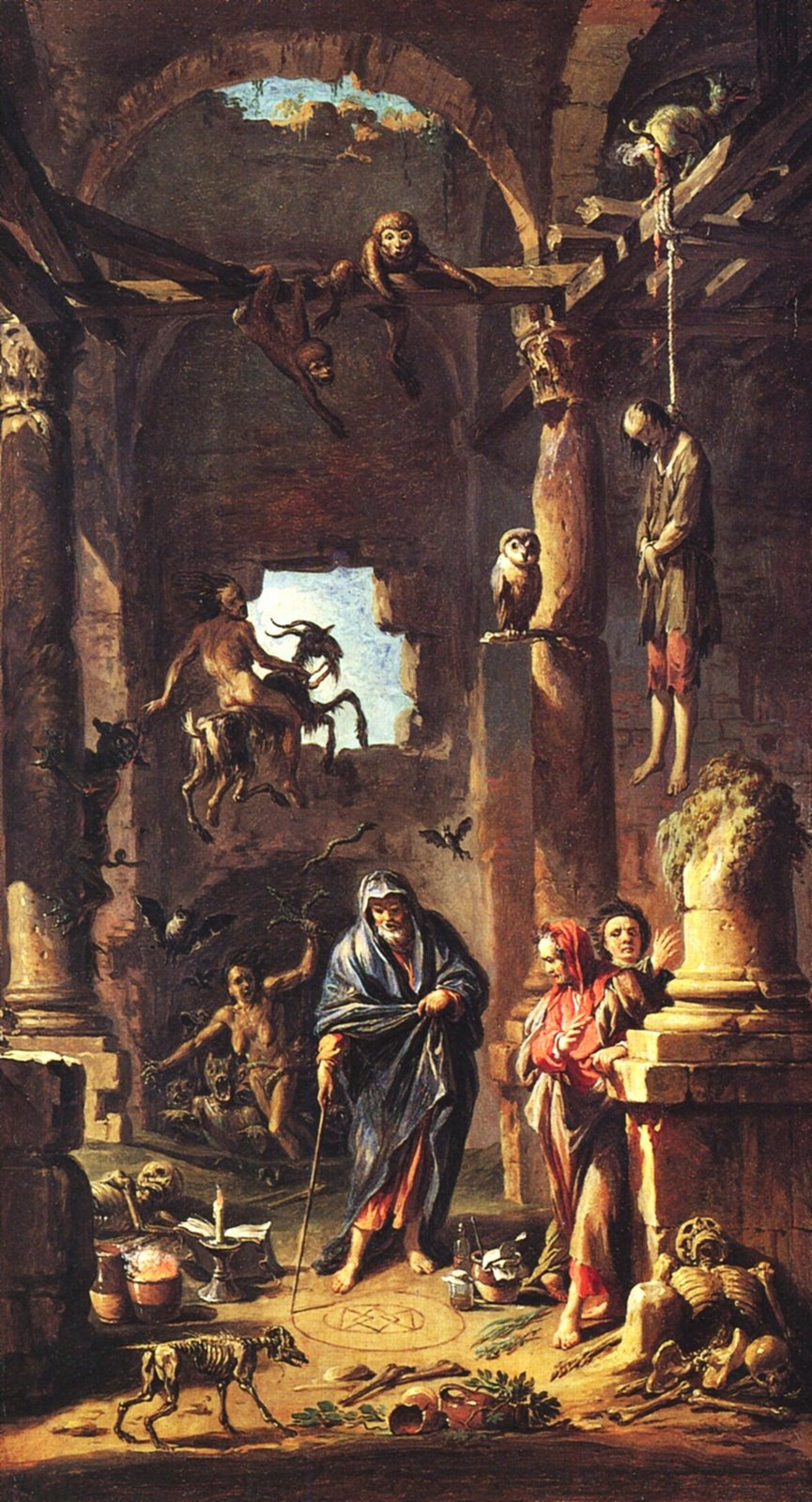 Andrea Locatelli - Magic Scene, 1741