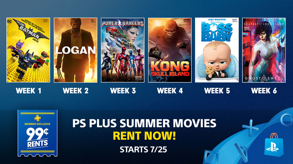 PS Plus Summer Movies