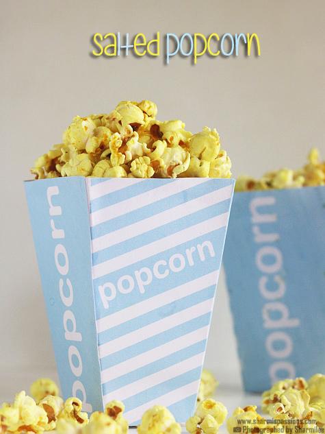 Salted popcorn recipe