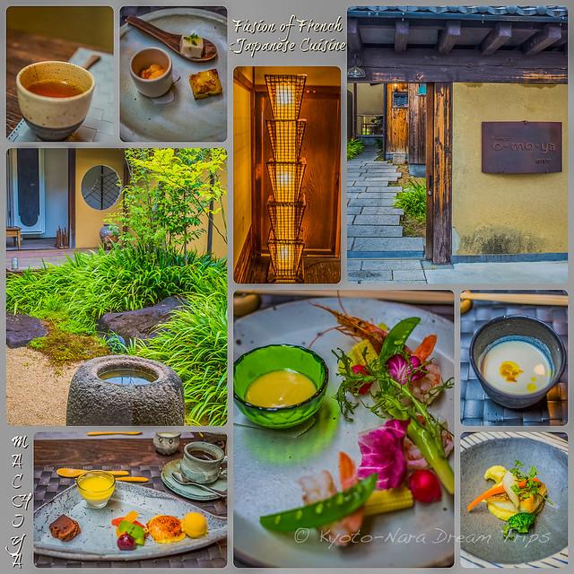 Fusion of French and Japanese Cuisine: O-MO-YA in Nara.