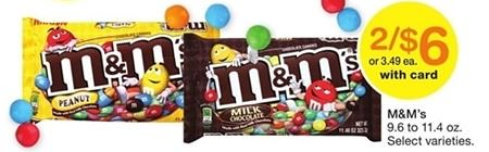 M&Ms Candy Coupon