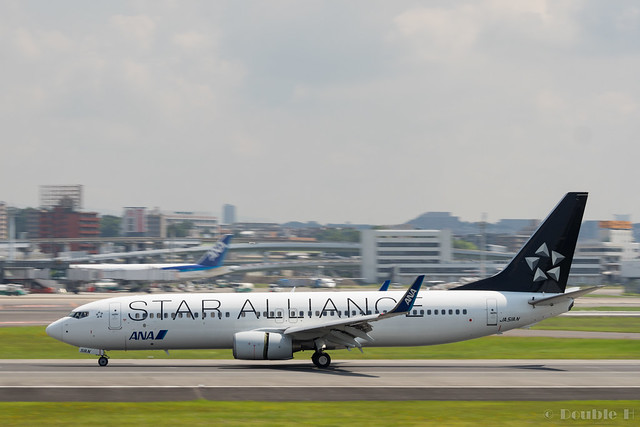 "Itami Airport 2017.7.19 (2) JA51AN / ANA's B737-800 with ""STAR ALLIANCE"" logo"