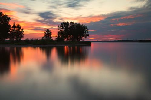 landscape lakescape seascape clouds longexposure lake water reflections sunrise dawn daybreak lakechatfield colorado