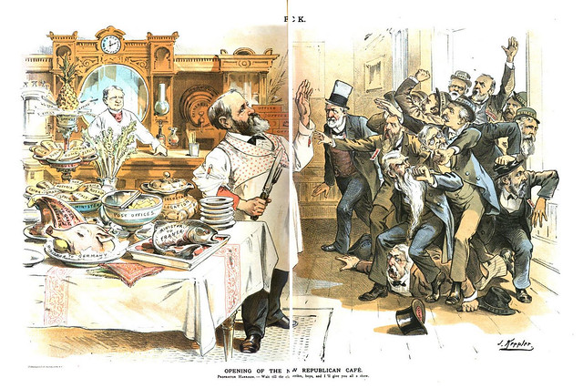 opening of the new republican cafe (1889)
