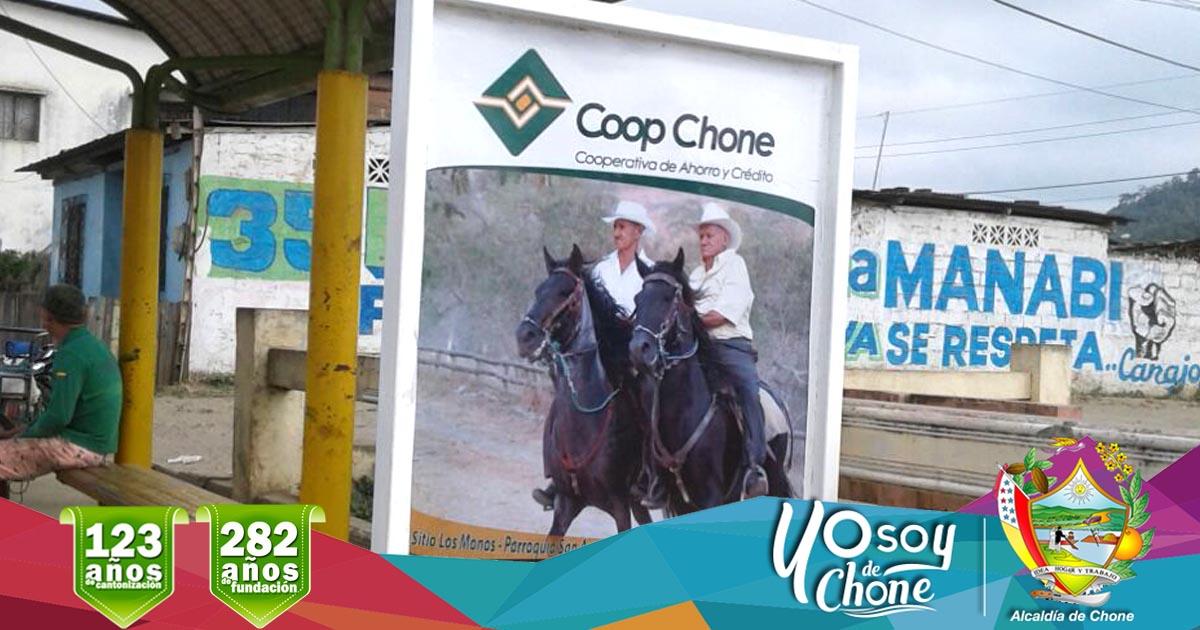 Alcaldía y Coop Chone trabajan en embellecimiento de la ciudad