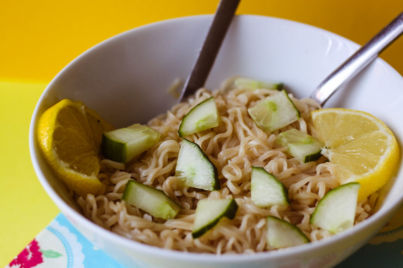 SW Slimming World budget friendly easy lemon noodles recipe